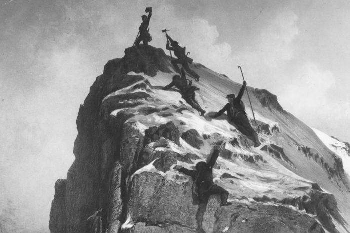 The Matterhorn has always attracted Alpinists. TV documentaries show climbs on the Hörnligrat and the story of the first ascent on 14 July 1865.