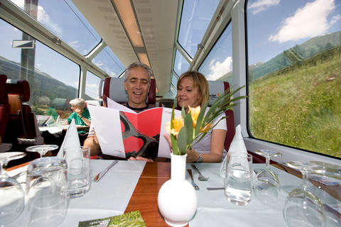 Glacier Express: pure pleasure for eyes and palate