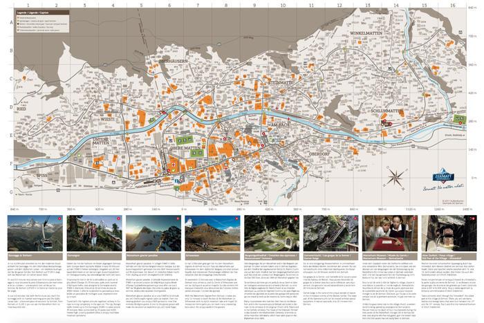 Street map of Zermatt Zermatt Switzerland