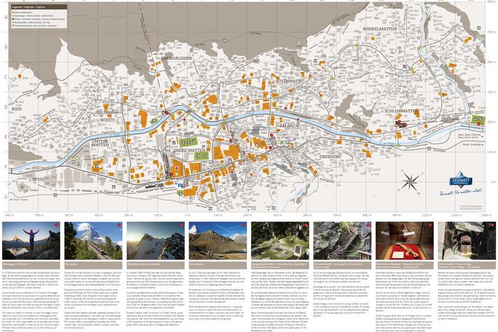 Street map of Zermatt | Zermatt, Switzerland on