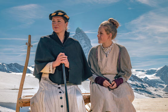 The play by Livia Anne Richard is being performed on Europe's highest open air stage, at 2,600 metres above sea level, until 1 September 2019.