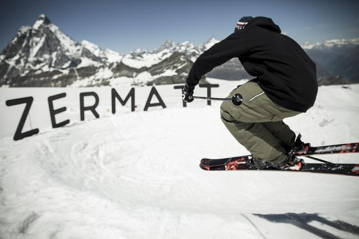 A funslope has been created in Snowpark Zermatt which has lots to offer both novice and advanced skiers.