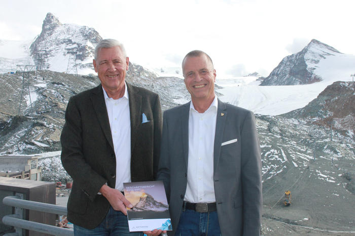 CEO Markus Hasler & president of the board of directors Hans Peter Julen
