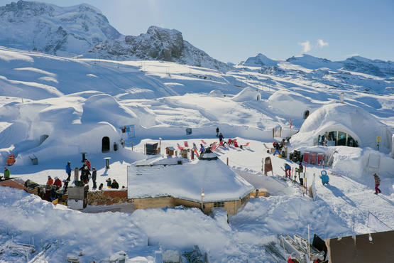 The Zermatt Igloo Village is a great attraction with many visitors each year.