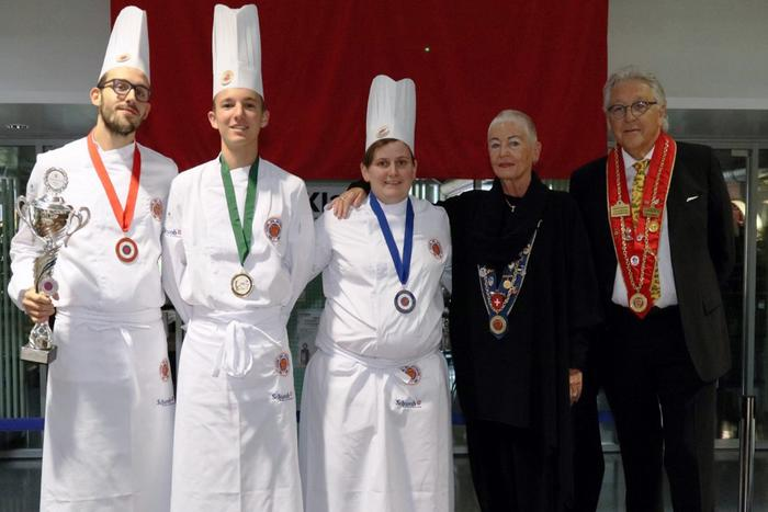 Mirjam Schwarz from the Grand Hotel Zermatterhof (middle) who won silver.