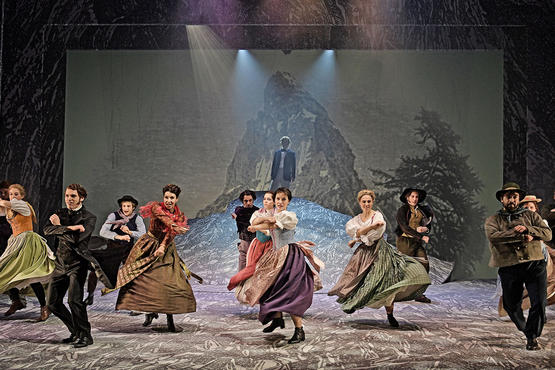 The Matterhorn musical world premier performed in St.Gallen.