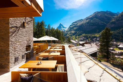 The best luxury hotel in Switzerland: the Mountain Boutique Resort Cervo.