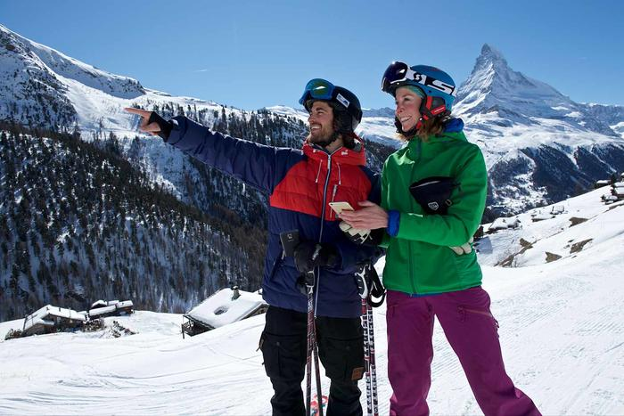 The Skiguide App from the Zermatt Bergbahnen AG guides guests perfectly through the ski area.