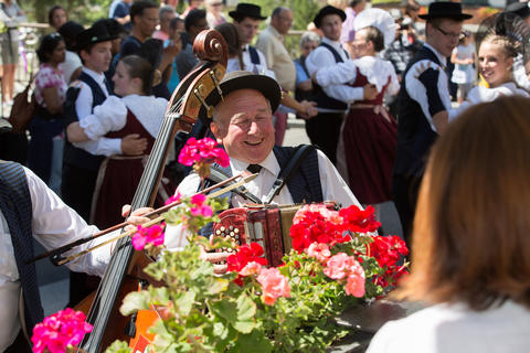 Musical entertainment on the Riffelberg