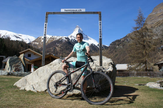 Ruggero Palazzo is an experienced mountain bike rider and knows all of the trails in and around Zermatt. Guests look forward to being able to take a tour with him.