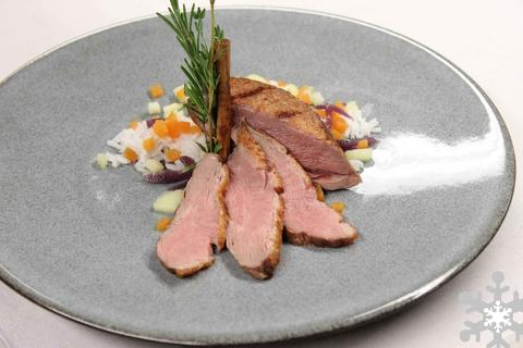 Breast of Duck with Apple-Gingerbread Chutney