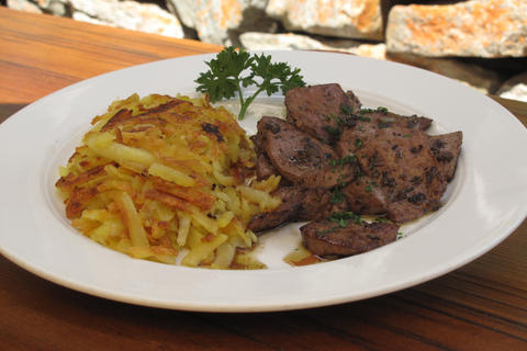 Sautéed calf's liver with Rösti
